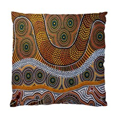 Aboriginal Traditional Pattern Standard Cushion Case (One Side)