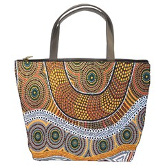 Aboriginal Traditional Pattern Bucket Bags
