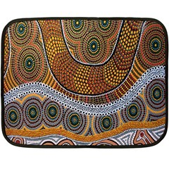 Aboriginal Traditional Pattern Double Sided Fleece Blanket (Mini)