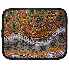 Aboriginal Traditional Pattern Netbook Case (XXL)
