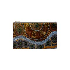 Aboriginal Traditional Pattern Cosmetic Bag (Small)