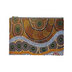 Aboriginal Traditional Pattern Cosmetic Bag (Large)
