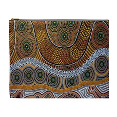 Aboriginal Traditional Pattern Cosmetic Bag (XL)