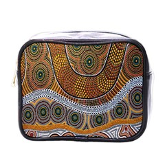 Aboriginal Traditional Pattern Mini Toiletries Bags