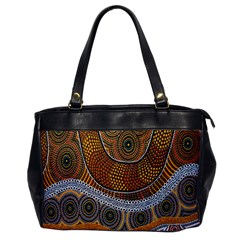 Aboriginal Traditional Pattern Office Handbags