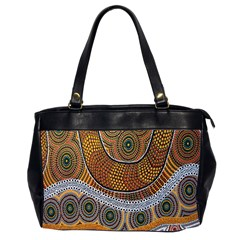 Aboriginal Traditional Pattern Office Handbags (2 Sides)