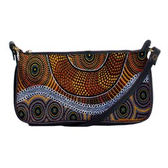 Aboriginal Traditional Pattern Shoulder Clutch Bags