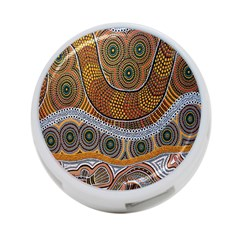 Aboriginal Traditional Pattern 4-Port USB Hub (Two Sides)