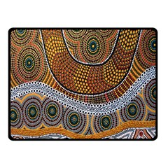 Aboriginal Traditional Pattern Fleece Blanket (Small)