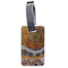 Aboriginal Traditional Pattern Luggage Tags (One Side)