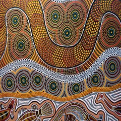 Aboriginal Traditional Pattern Magic Photo Cubes