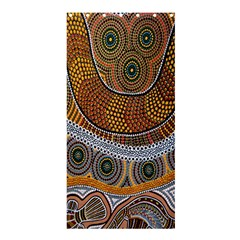 Aboriginal Traditional Pattern Shower Curtain 36  x 72  (Stall)
