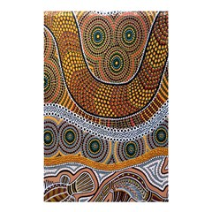 Aboriginal Traditional Pattern Shower Curtain 48  x 72  (Small)