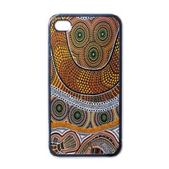 Aboriginal Traditional Pattern Apple iPhone 4 Case (Black)