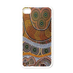 Aboriginal Traditional Pattern Apple iPhone 4 Case (White)