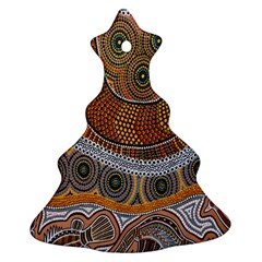 Aboriginal Traditional Pattern Christmas Tree Ornament (Two Sides)