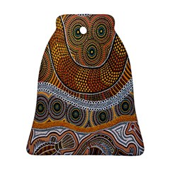 Aboriginal Traditional Pattern Bell Ornament (Two Sides)