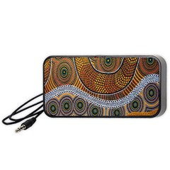 Aboriginal Traditional Pattern Portable Speaker (Black)