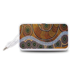 Aboriginal Traditional Pattern Portable Speaker (White)