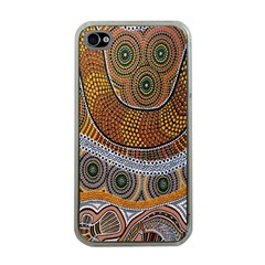 Aboriginal Traditional Pattern Apple iPhone 4 Case (Clear)