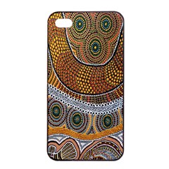 Aboriginal Traditional Pattern Apple iPhone 4/4s Seamless Case (Black)