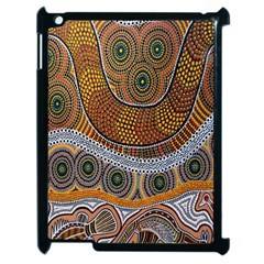 Aboriginal Traditional Pattern Apple iPad 2 Case (Black)