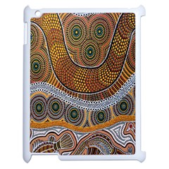 Aboriginal Traditional Pattern Apple iPad 2 Case (White)