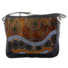 Aboriginal Traditional Pattern Messenger Bags
