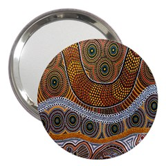 Aboriginal Traditional Pattern 3  Handbag Mirrors