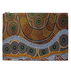 Aboriginal Traditional Pattern Cosmetic Bag (XXL)