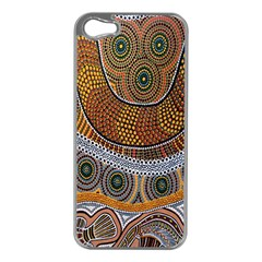 Aboriginal Traditional Pattern Apple iPhone 5 Case (Silver)