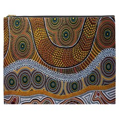 Aboriginal Traditional Pattern Cosmetic Bag (XXXL)