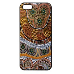 Aboriginal Traditional Pattern Apple iPhone 5 Seamless Case (Black)