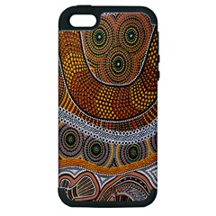Aboriginal Traditional Pattern Apple iPhone 5 Hardshell Case (PC+Silicone)