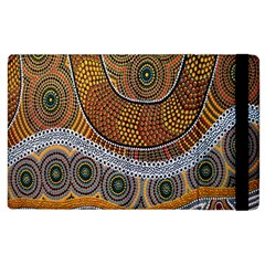 Aboriginal Traditional Pattern Apple iPad 3/4 Flip Case