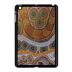 Aboriginal Traditional Pattern Apple iPad Mini Case (Black)