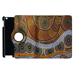 Aboriginal Traditional Pattern Apple iPad 3/4 Flip 360 Case
