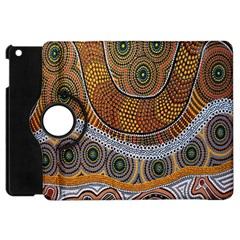 Aboriginal Traditional Pattern Apple iPad Mini Flip 360 Case