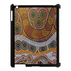 Aboriginal Traditional Pattern Apple iPad 3/4 Case (Black)