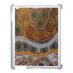 Aboriginal Traditional Pattern Apple iPad 3/4 Case (White)