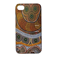 Aboriginal Traditional Pattern Apple iPhone 4/4S Hardshell Case with Stand