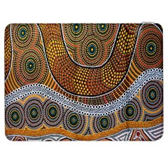 Aboriginal Traditional Pattern Samsung Galaxy Tab 7  P1000 Flip Case