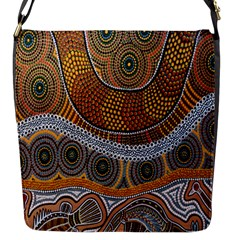Aboriginal Traditional Pattern Flap Messenger Bag (S)
