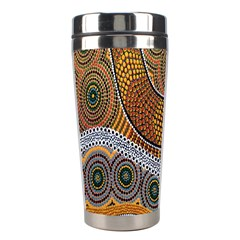 Aboriginal Traditional Pattern Stainless Steel Travel Tumblers