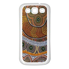 Aboriginal Traditional Pattern Samsung Galaxy S3 Back Case (White)