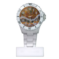 Aboriginal Traditional Pattern Plastic Nurses Watch