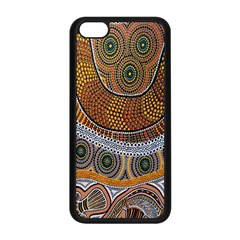 Aboriginal Traditional Pattern Apple iPhone 5C Seamless Case (Black)