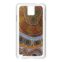 Aboriginal Traditional Pattern Samsung Galaxy Note 3 N9005 Case (White)