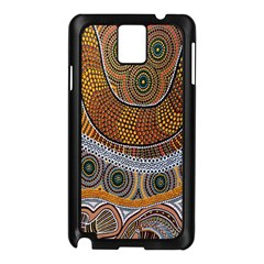 Aboriginal Traditional Pattern Samsung Galaxy Note 3 N9005 Case (Black)
