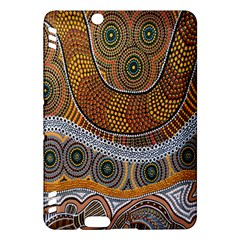 Aboriginal Traditional Pattern Kindle Fire HDX Hardshell Case